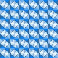 este es un patrón de cuadros geométricos azules poligonales con un rombo redondeado claro vector