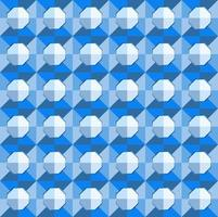 This is a polygonal blue geometric checkered pattern with a light octagon vector