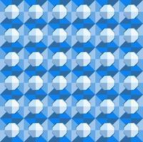 Este es un patrón de cuadros geométricos azules poligonales con un octágono claro. vector