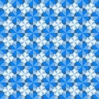 This is a polygonal blue geometric pattern with the star of Solomon vector