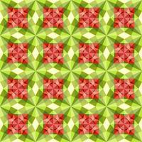 This is a polygonal green and red crystal kaleidoscope pattern vector