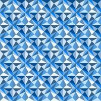 This is a polygonal blue geometric pattern with stars and triangles vector