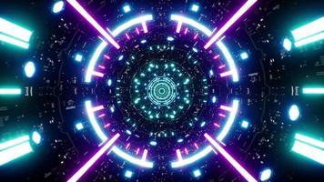 boucle de tunnel de cyberpunk de faisceau laser spatial 4k video