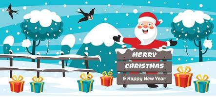 Christmas Card Design With Funny Character vector
