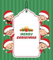 Christmas Card Design With Funny Characters vector