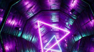bucle de 4k de túnel grunge neón cyberpunk video