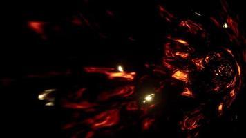 Flamme abstraite étincelle vue latérale du tunnel video