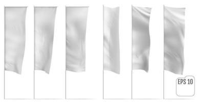 White banner flags Vector set