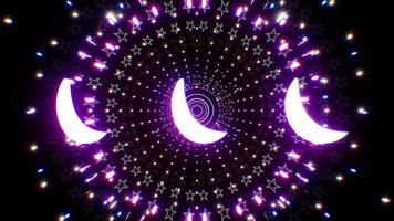bucle de fondo del túnel de ramadán vj video