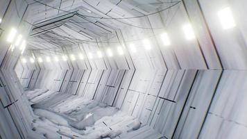 loop 4k do túnel branco nevado video