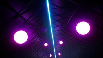 Led Glowing Balls VJ Tunnel 4K video