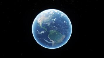 a visão da Terra girando por alguns segundos e se aproxima da América do Norte video
