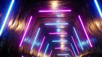 Grunge Pentagon VJ Neon Tunnel 4K Loop video