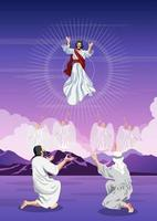 Happy Ascension Day of Jesus Christ vector