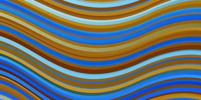 Light Blue, Yellow vector background with bent lines.