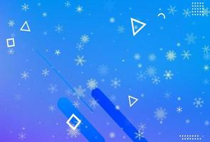 Winter abstract blue background vector