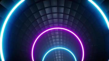 túnel de ladrillo negro vj 4k video