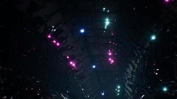 bucle de 4k de túnel espacial brillante cyberpunk video