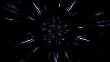 Fast Speed Neon Light Streak 4K video