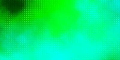 Light Green vector background with spots.