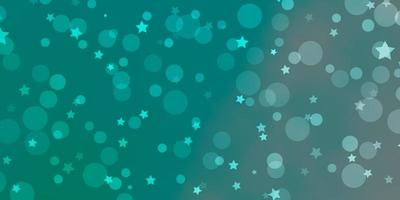 Light Green vector layout with circles, stars.