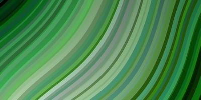 Light Green vector background with bent lines.