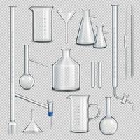 Laboratory Glassware Set Vector Illustration
