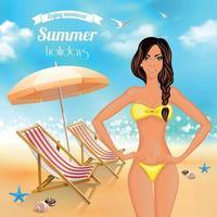 Summer Holidays Realistic Poster Vector Illustration