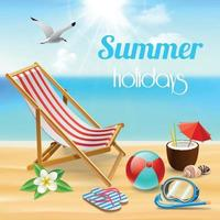 Summer Holidays Realistic Composition Vector Illustration