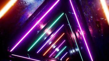 VJ Triangle Tunnel Loop 4K video