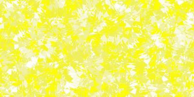 Light yellow vector texture with random triangles.