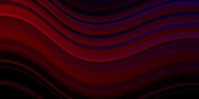 Dark Green, Red vector backdrop with bent lines.