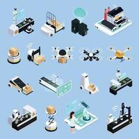 Smart Production Icons Collection Vector Illustration