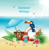 Summer Holidays Realistic Concept Vector Illustration