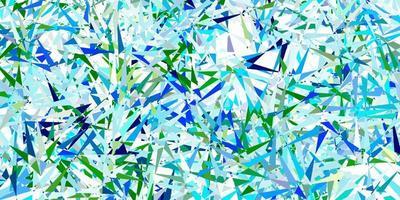 Light blue, green vector texture with random triangles.