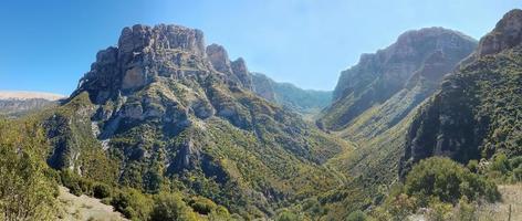 Panoramic view of Vikos Gorge in Epirus, northern Greece photo