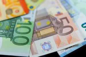 Euro notes and credit bank cards photo
