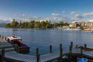 Bowness-on-Windermere harbor view, Lake District in Cumbria, UK photo