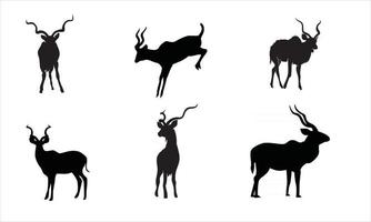 collection of deer silhouettes vector