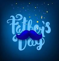 Happy fathers day greeting card with lettering inscription vector