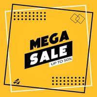 nuevas mega ventas con hasta un folleto de etiquetas de descuento vector
