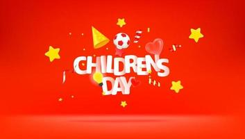 International Childrens day greeting card vector