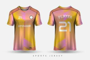 Soccer jersey and tshirt sport mockup template Graphic design for football kit vector