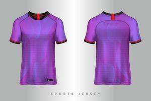 diseño gráfico de plantilla de maqueta deportiva de camiseta y camiseta de fútbol para kit de fútbol vector