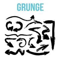 arrow collection grunge brush strokes vector