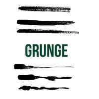 six grunge brush vector