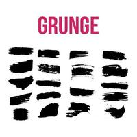 collection of grunge elements vector