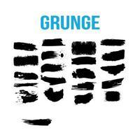 paint splash grunge brushes vector
