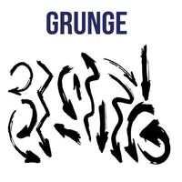 grunge brush strokes  collection vector