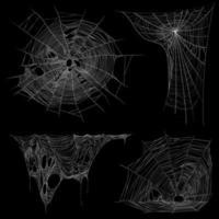Ilustración de vector de conjunto de telaraña de tela de araña realista